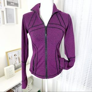 Lululemon Define Deep Fuchsia Black Jacket…